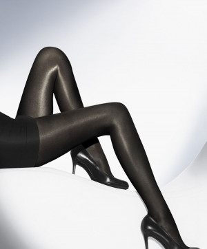 Collants Neon 40 Tights Noir Collants et Bas Wolford Face 18391