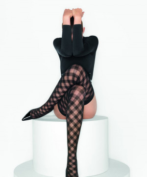 Collants Kate Tights Noir Black Black Collants et Bas Wolford Face 18901