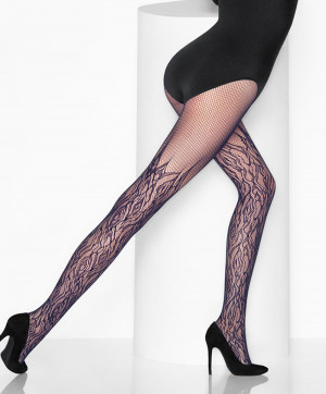 Collants Fire Net Tights Noir Black Collants et Bas Wolford Face 19120
